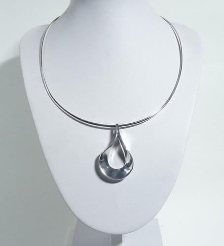 925 Sterling Silver Solid Hand-Crafted Necklace.